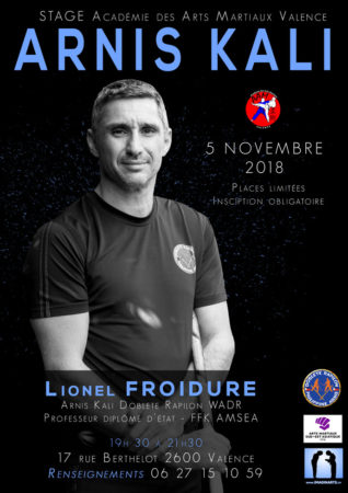 stage arnis kali lionel froidure valence novembre 2018