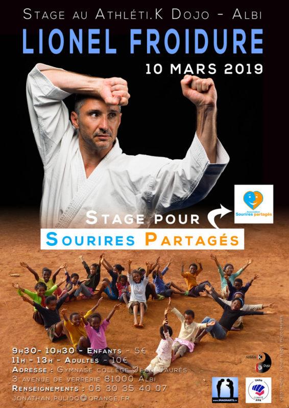 stage de karaté avec Lionel Froidure à Albi en mars 2019