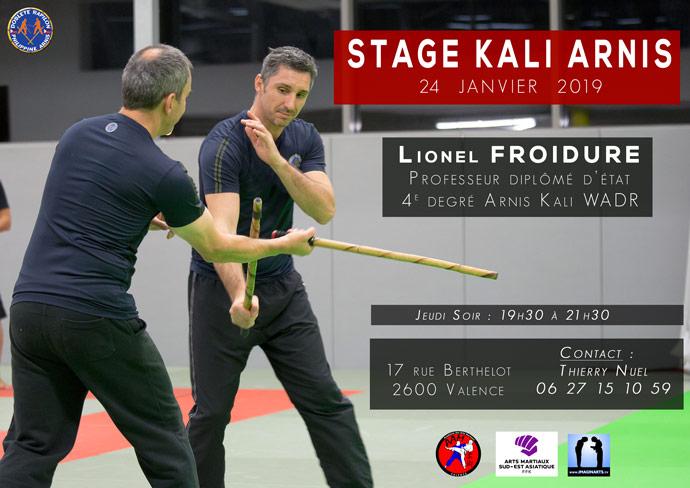 stage arnis kali lionel froidure valence janvier 2019