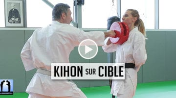 kihon sur cible - conseils karaté pour réussir son passage de grade FFKarate