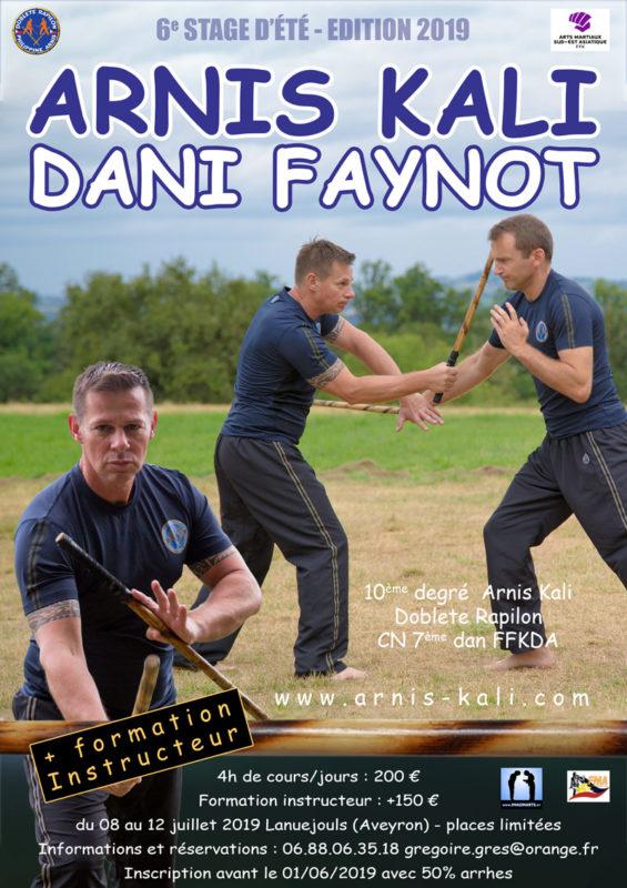stage été 2019 Arnis Kali Doblete Rapilon avec Master Dani Faynot