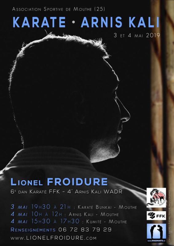 Stage Lionel Froidure Karaté et Arnis dans le hauts-doubs en mai 2019