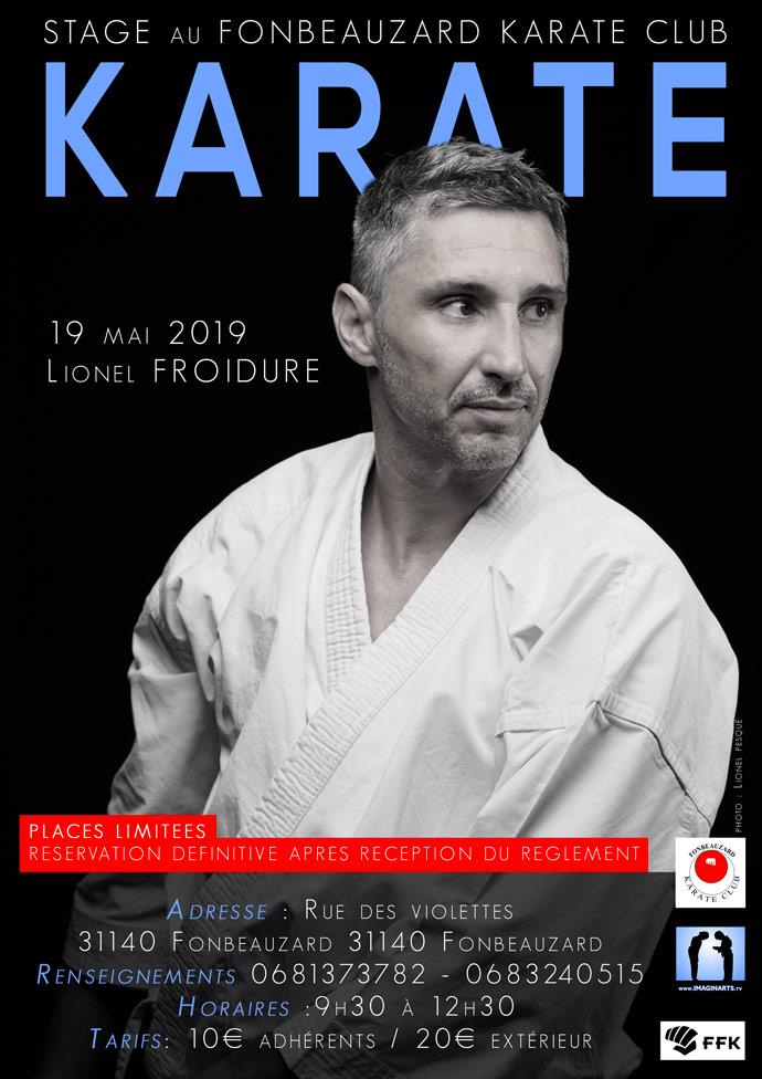 stage karate Lionel Froidure à Fonbeauzard en mai 2019