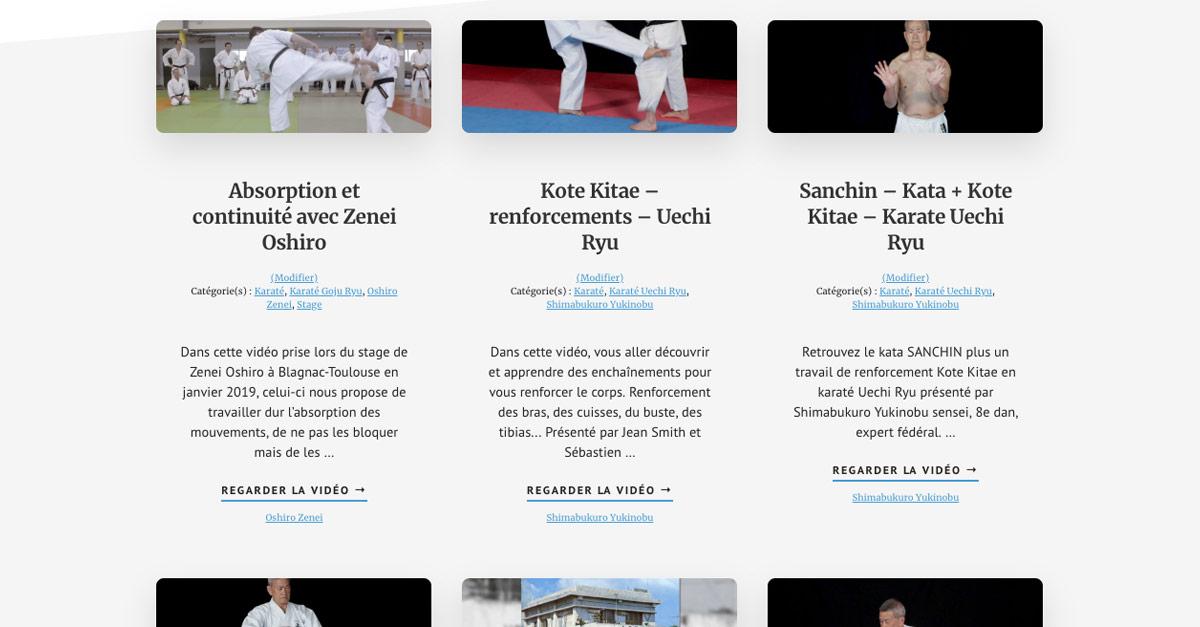 Projets Karate