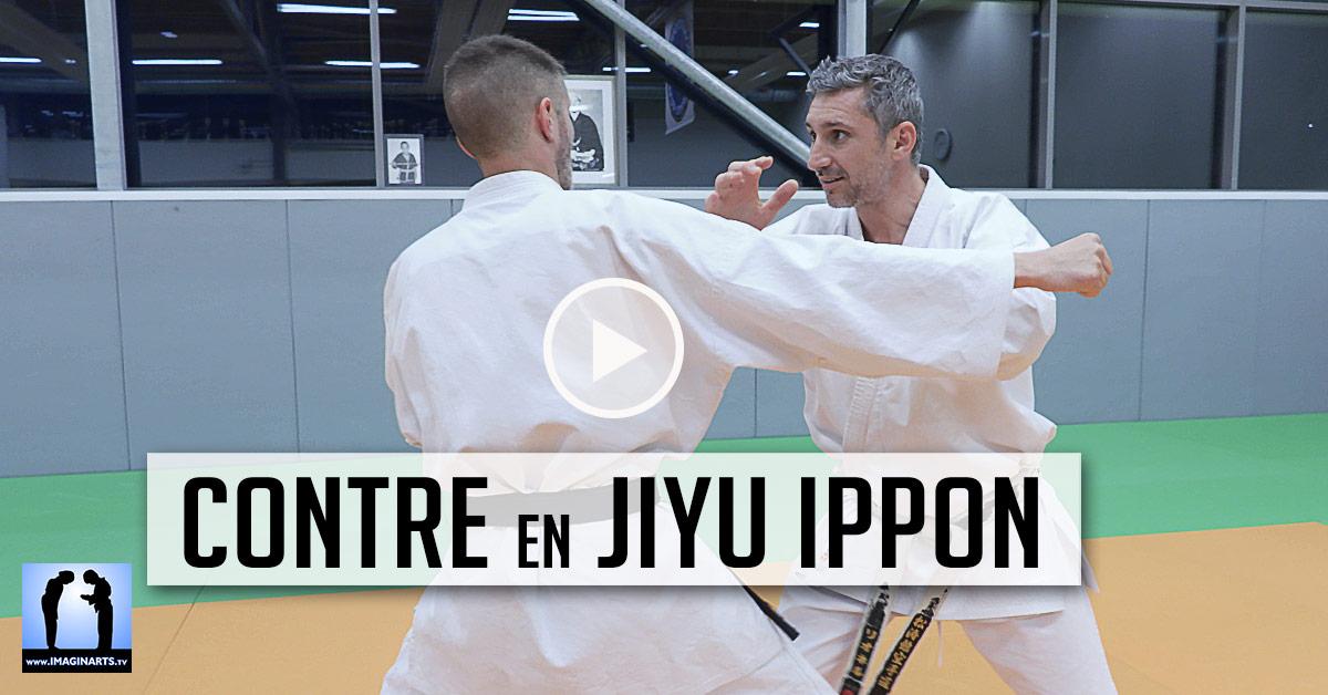 Contrer avec Hente en Jiyu Ippon Kumite [vidéo] Karate