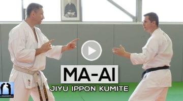 Ma-ai : distance dans le jiyu ippon kumite en karate - vidéo avec Lionel Froidure