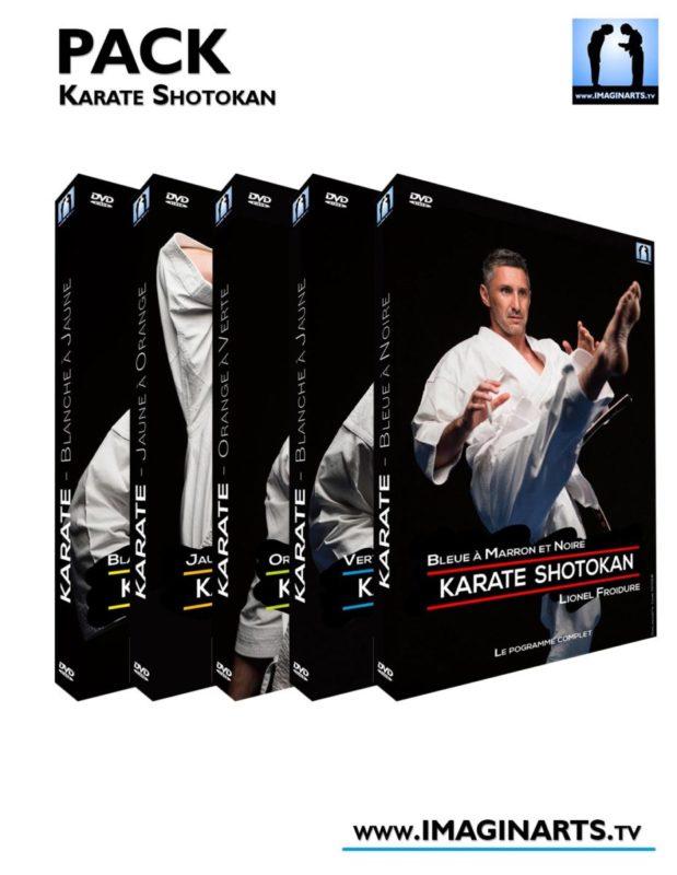pack dvd cours de karaté shotokan vidéo avec Lionel Froidure