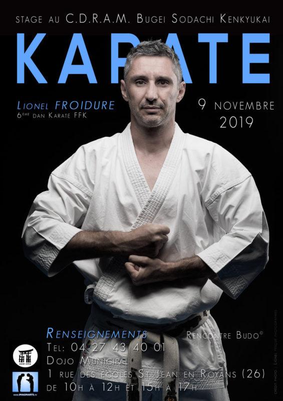 Stage de karaté avec Lionel Froidure à St Jean de Royans en novembre 2019