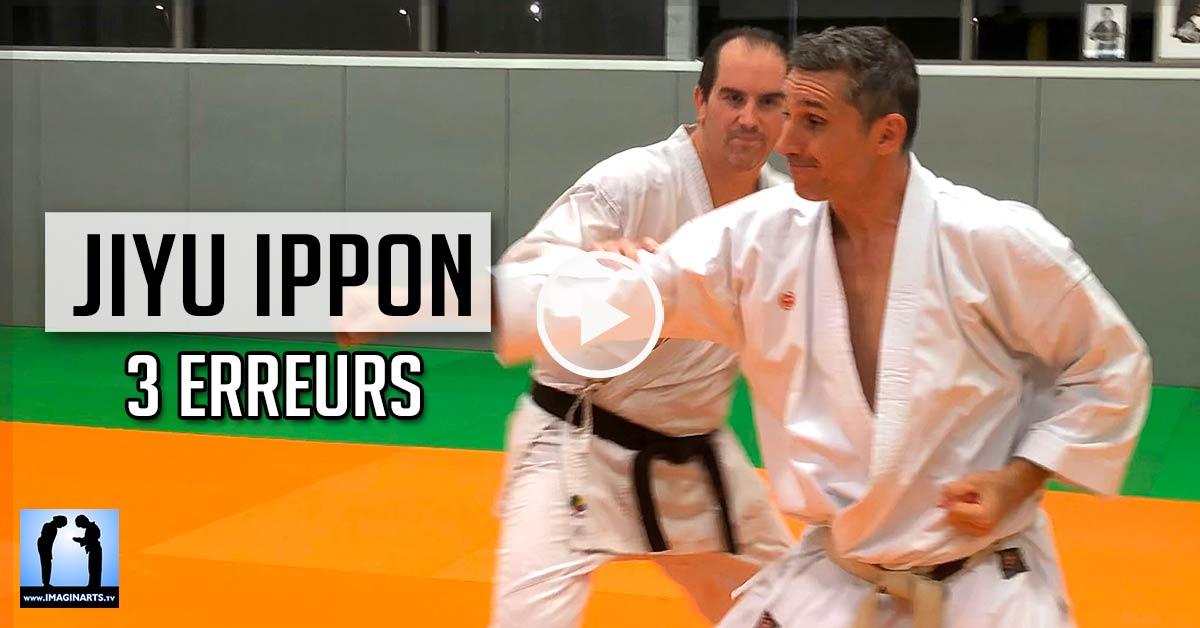3 erreurs en Jiyu Ippon Kumite - Karate [vidéo]