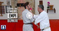 Empi bunkai - karate travail à 2 mains avec Lionel Froidure - vidéo