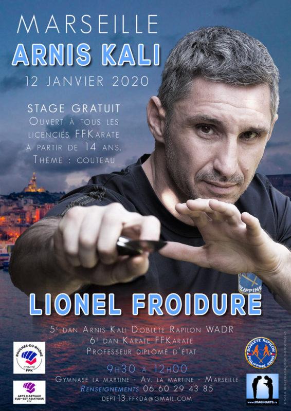 stage Arnis Kali à Marseille en janvier 2020 avec Lionel Froidure