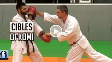 enchaînement combat oi Komi en karate sur cible