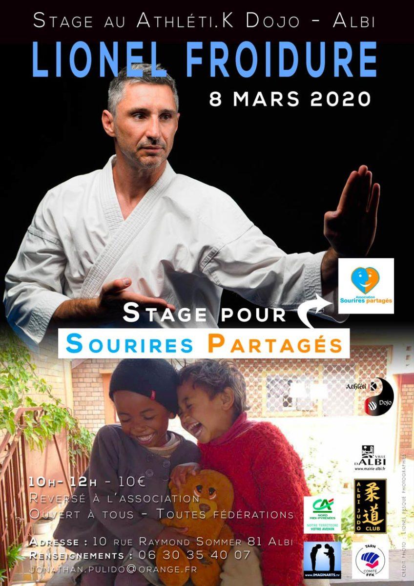 Lionel Froidure à Albi pour Sourires Partagés – mars 2020