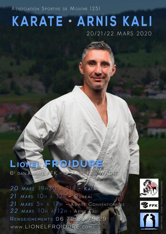 Stage Karate à Mouthe Doubs avec Lionel Froidure en mars 2020