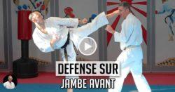 défense Mawashi Geri jambe avant video karate Lionel froidure