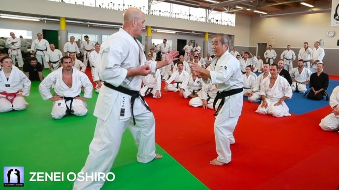Vidéo Zenei Oshiro - stage Karate Goju-Ryu