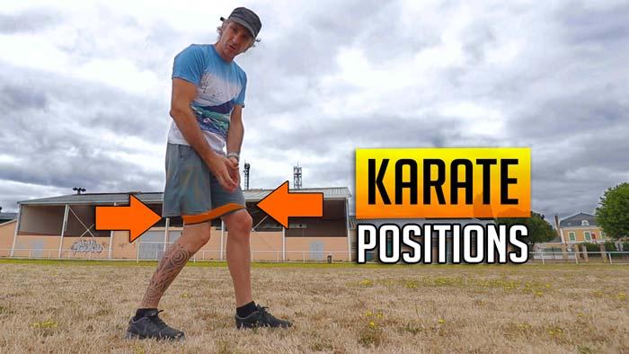 Positions et Elastique en Karaté