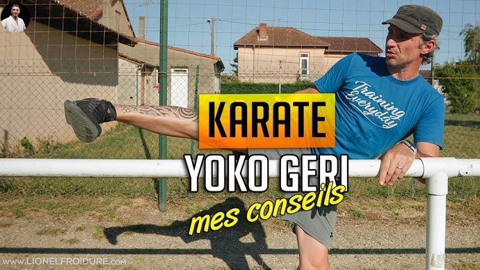 vidéo karate yoko geri - conseils et erreurs à eviter