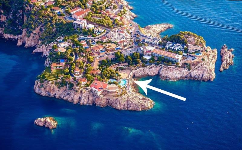 Un lieu unique : Eden Roc Hôtel à Sant Filiou de Guixols pour ce stage d'été de karaté 2021