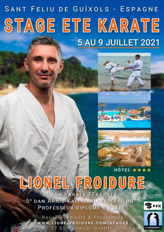 Stage été de karaté en juillet 2021 avec Lionel Froidure sur la Costa Brava en Espagne