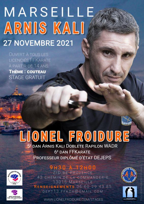 Stage Arnis Kali à Marseille en novembre 2021 avec Lionel Froidure