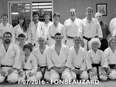 stage karate fonbeauzard juillet 2016 avec Lionel Froidure